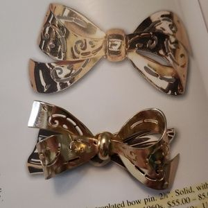 Coro gold bow brooch